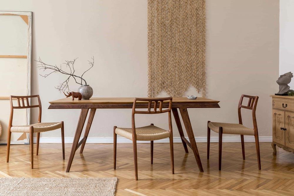 combinar muebles de distinta madera